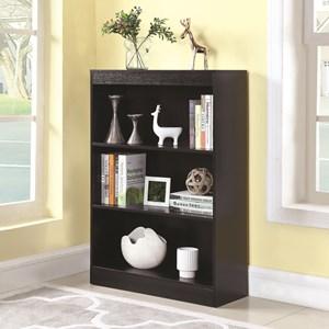 3 Shelf Transitional Bookcase
