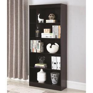 5 Shelf Transitional Bookcase