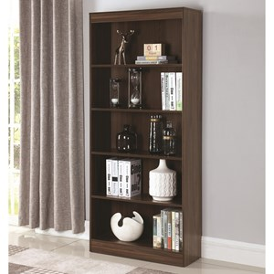 5 Shelf Transitional Bookcase