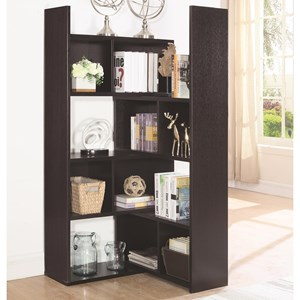 Transitional Bookcase with Rotating Shelf