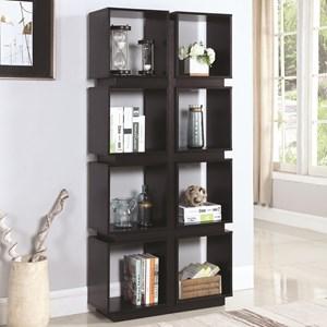 8 Shelf Geometric Bookcase