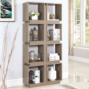8 Shelf Geometric Bookcase