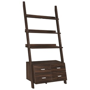 Ladder Bookcase with Dark Walnut Finish