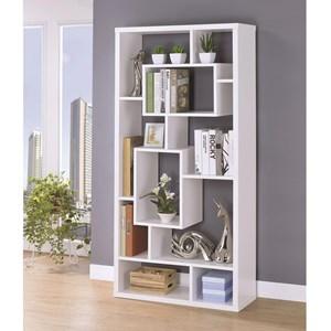 Asymmetrical Cube Book Case with Shelves