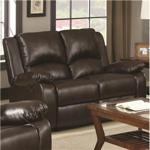 Casual Double Reclining Love Seat