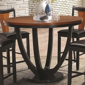Contemporary Counter Height Table with Butterfly Top