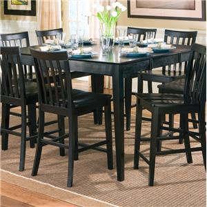 Counter Height Dining Leg Table with Leaf