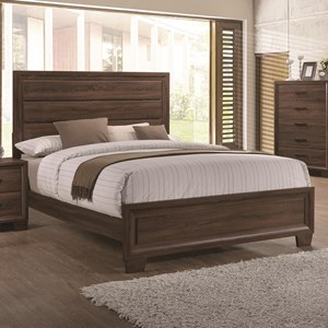 Transitionally Styled King Panel Bed