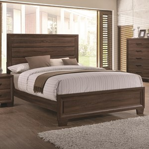 Transitionally Styled Queen Panel Bed