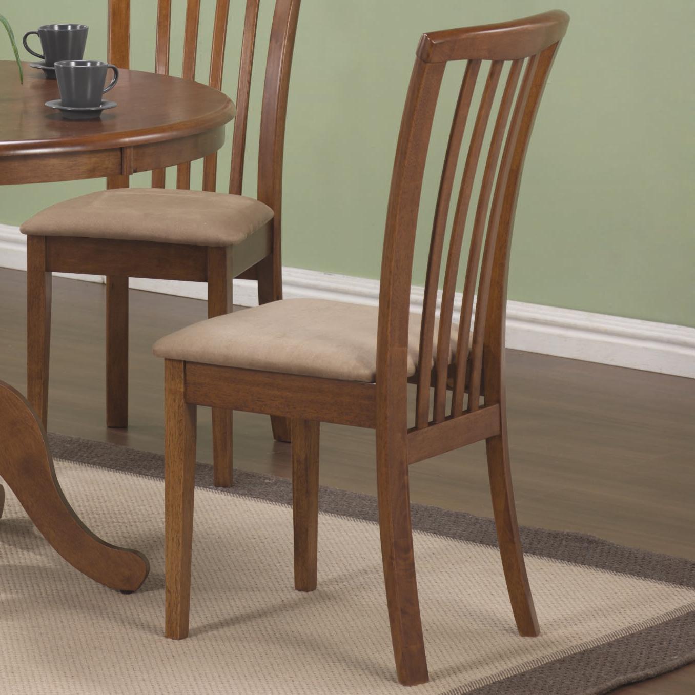 Brannan Slat Back Side Chair by Coaster at Lapeer Furniture & Mattress Center