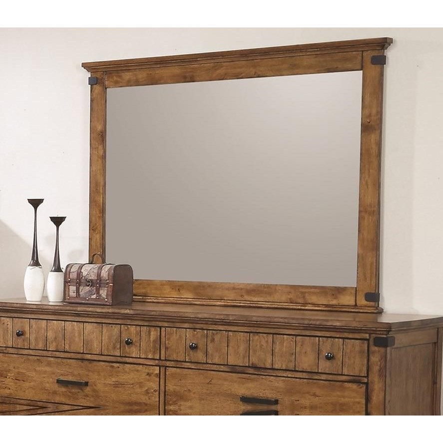 Brenner Mirror with Wood Frame by Coaster at Northeast Factory Direct