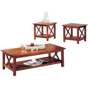 Casual 3 Piece Occasional Table Set