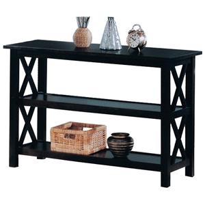 Casual Sofa Table with 2 Shelves