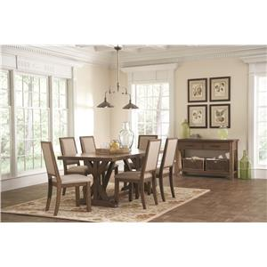 8 Piece Rustic Dining Room Group
