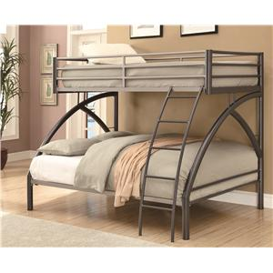 Coaster Bunks Twin/Full Bunk Bed