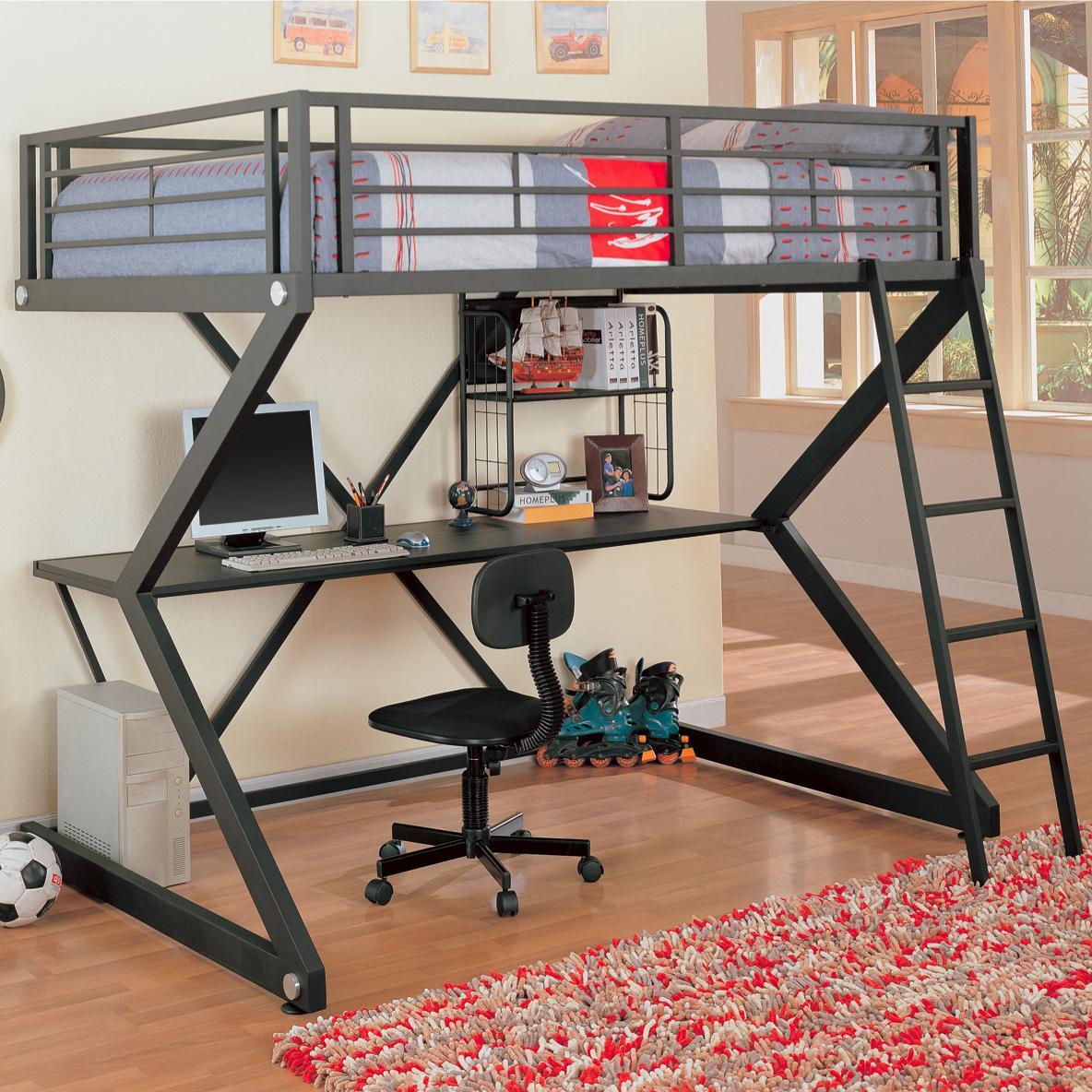 Bunks Workstation Loft Bed by Coaster at Value City Furniture