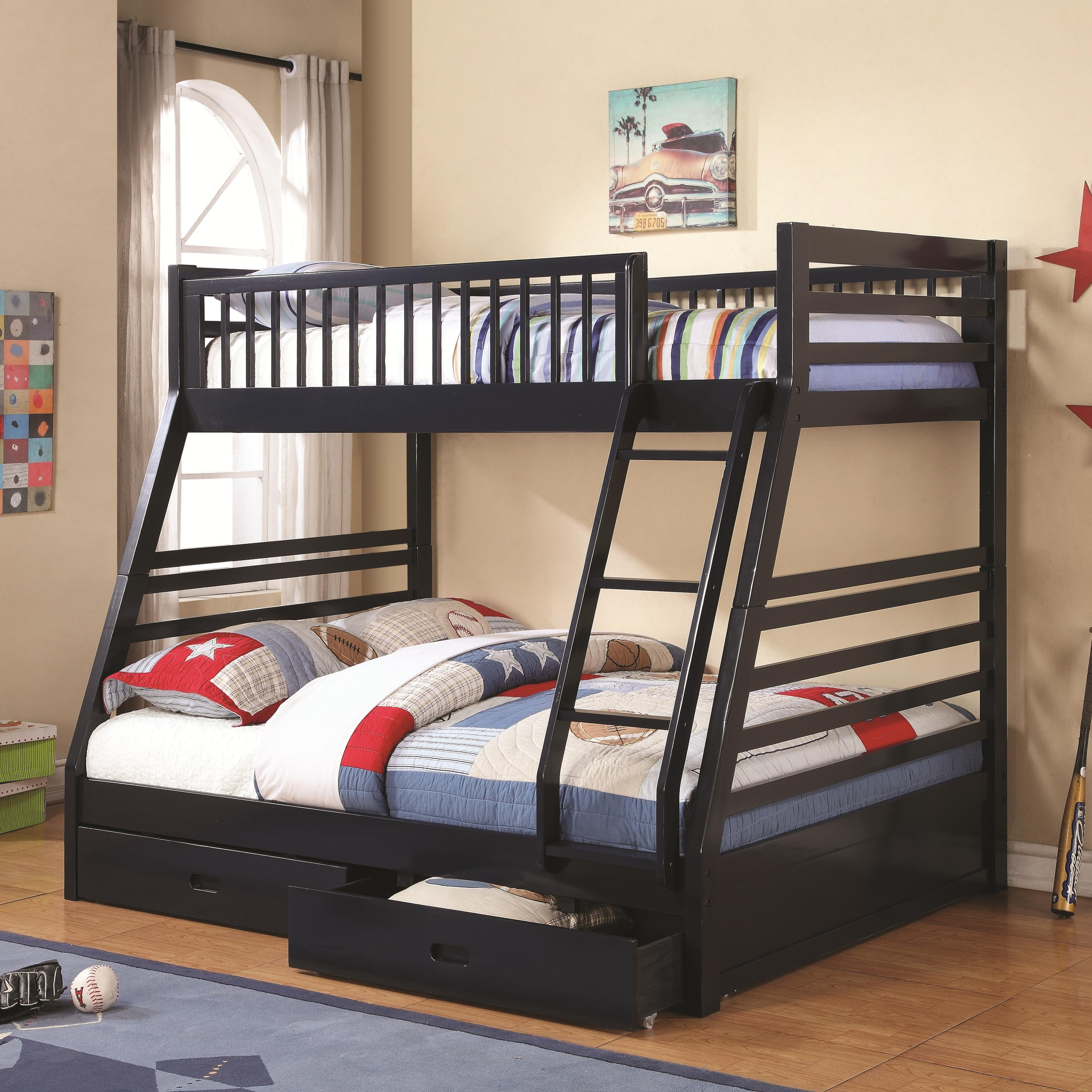 Bunks Twin over Full Bunk Bed by Coaster at Northeast Factory Direct