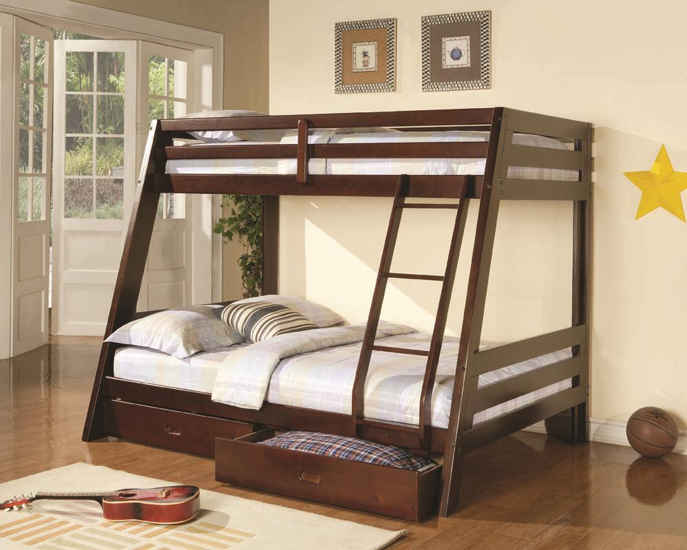 Bunks Twin-over-Full Bunk Bed by Coaster at Northeast Factory Direct