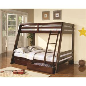 Coaster Bunks Twin-over-Full Bunk Bed