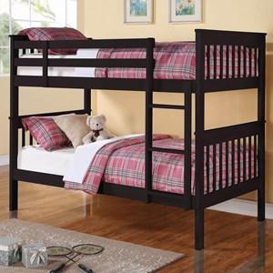 Chapman Twin/Twin Bunk Bed in Black Finish