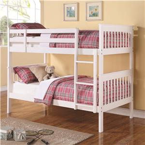Coaster Bunks Twin Over Twin Bunk Bed