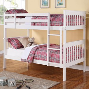 Chapman Twin/Twin Bunk Bed in White Finish