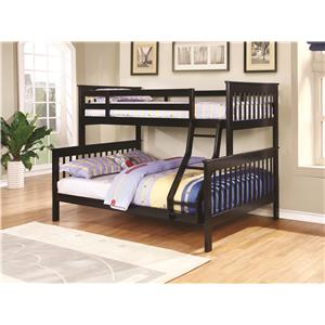 Traditional Twin over Full Bunk Bed