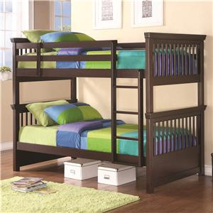 Casual-Style Twin Bunk Bed