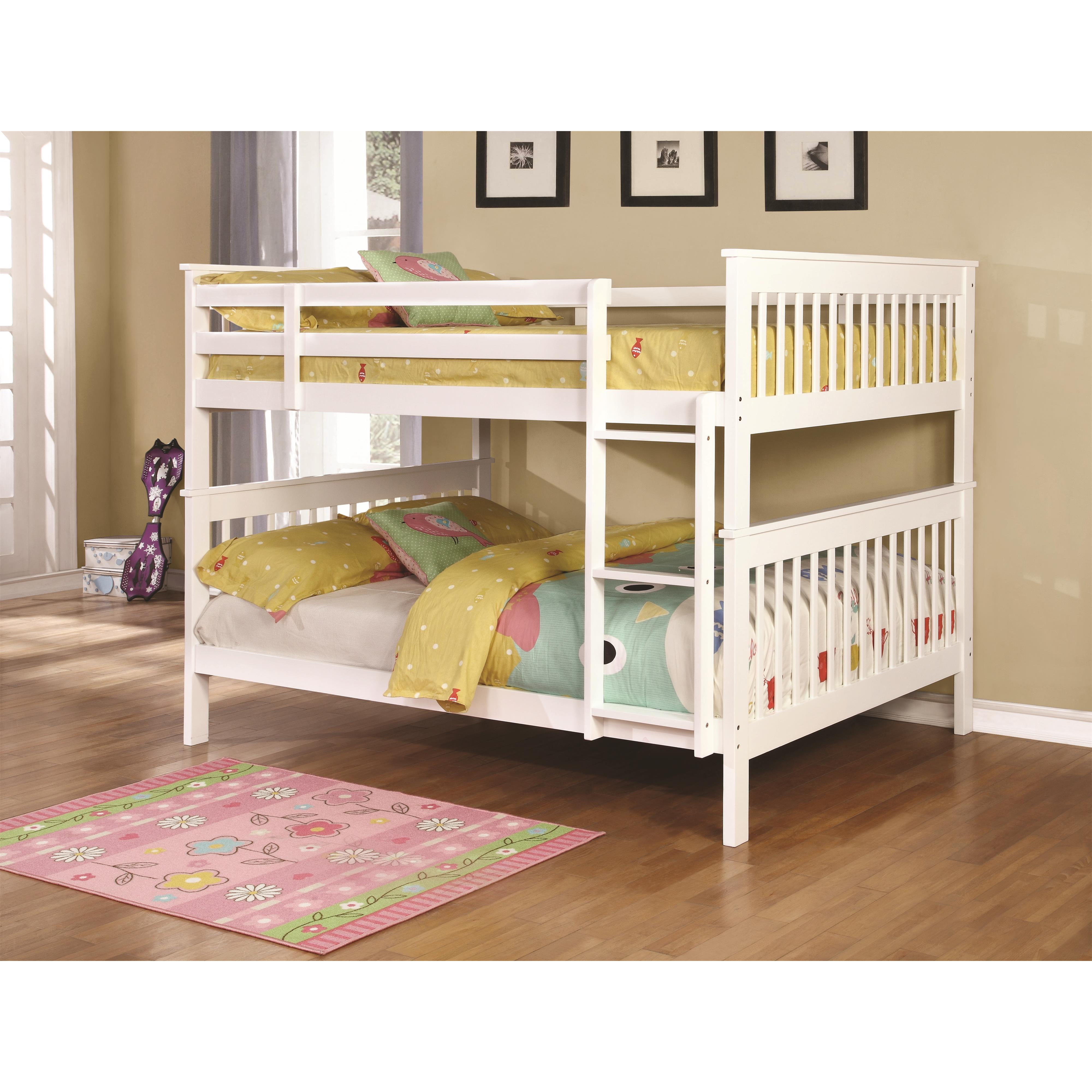 Bunks Full over Full Bunk Bed by Coaster at Standard Furniture