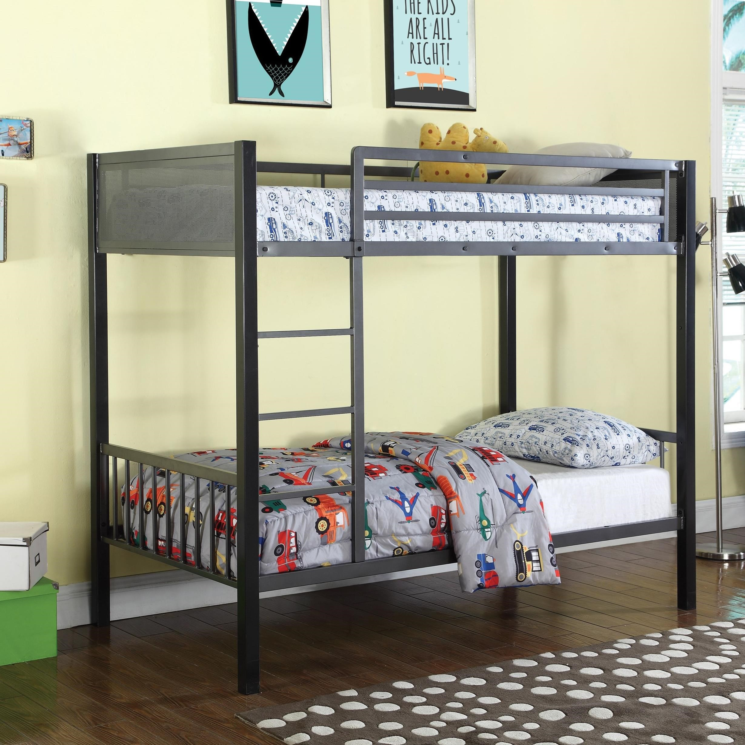 Bunks Twin Metal Bunk Bed by Coaster at Northeast Factory Direct