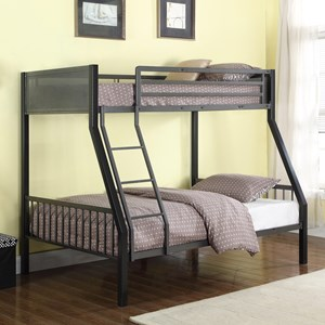 Metal Twin over Full Loft Bunk Bed