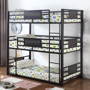 Metal Twin Triple Bunk