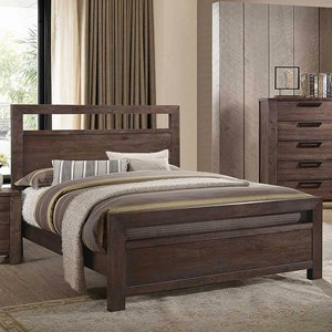 Transitional King Panel Bed