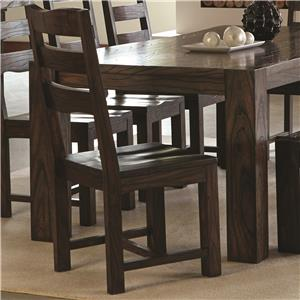 Contemporary Side Chair with Wavy Wood Grain