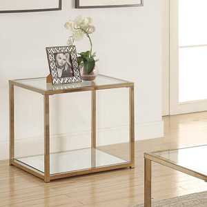 End Table with Mirror Shelf