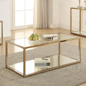 Coffee Table with Mirror Shelf