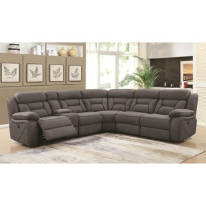 Reclining Power Sectional with Console