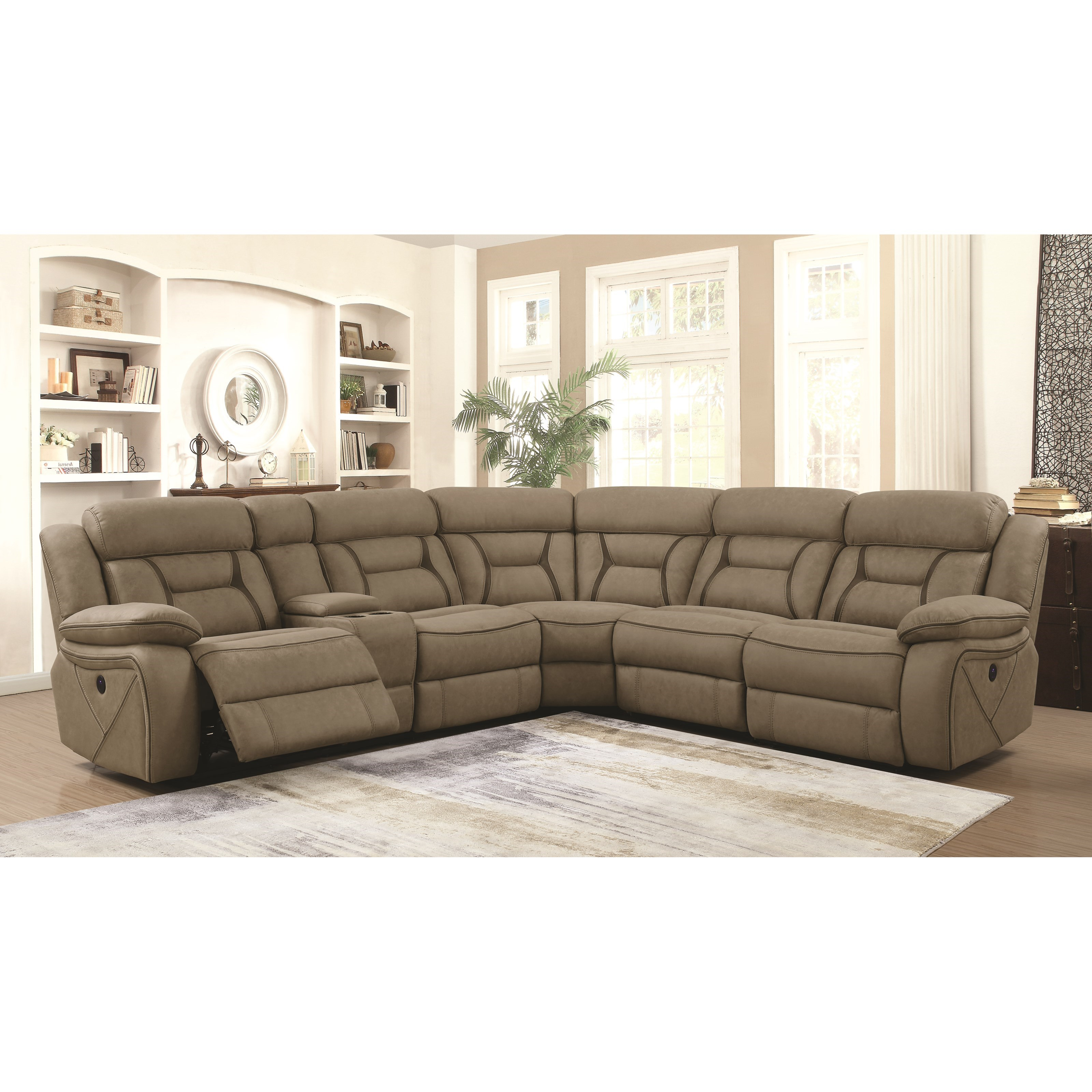 Camargue Reclining Sectional by Coaster at Northeast Factory Direct