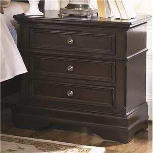 3 Drawer Night Stand with Bracket Feet