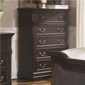 5 Drawer Chest with Bracket Feet