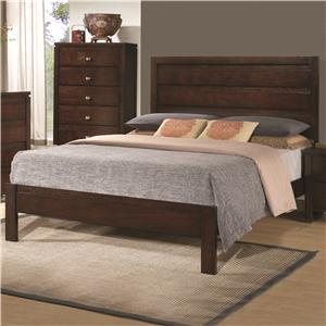 California King Bed with Panel Headboard and Footboard