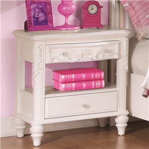 Night Stand with Rosette Knobs