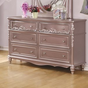 Decorative 6 Drawer Dresser