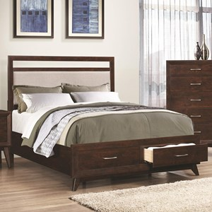 California King Storage Bed with Dovetail Drawers
