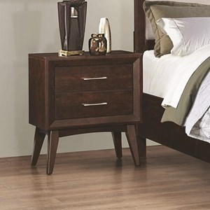 Night Stand with Two Dovetail Drawers