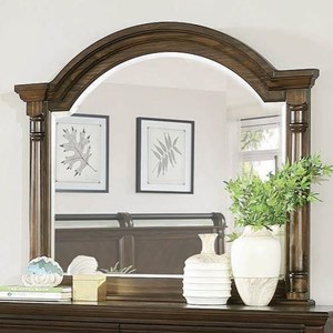 Traditional Mirror with Arch Top