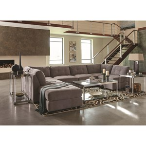 Contemporary Two Tone Sectional Sofa