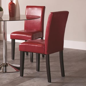 Upholstered Dining Chair with Full Back