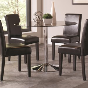 Pedestal Dining Table with Glass Table