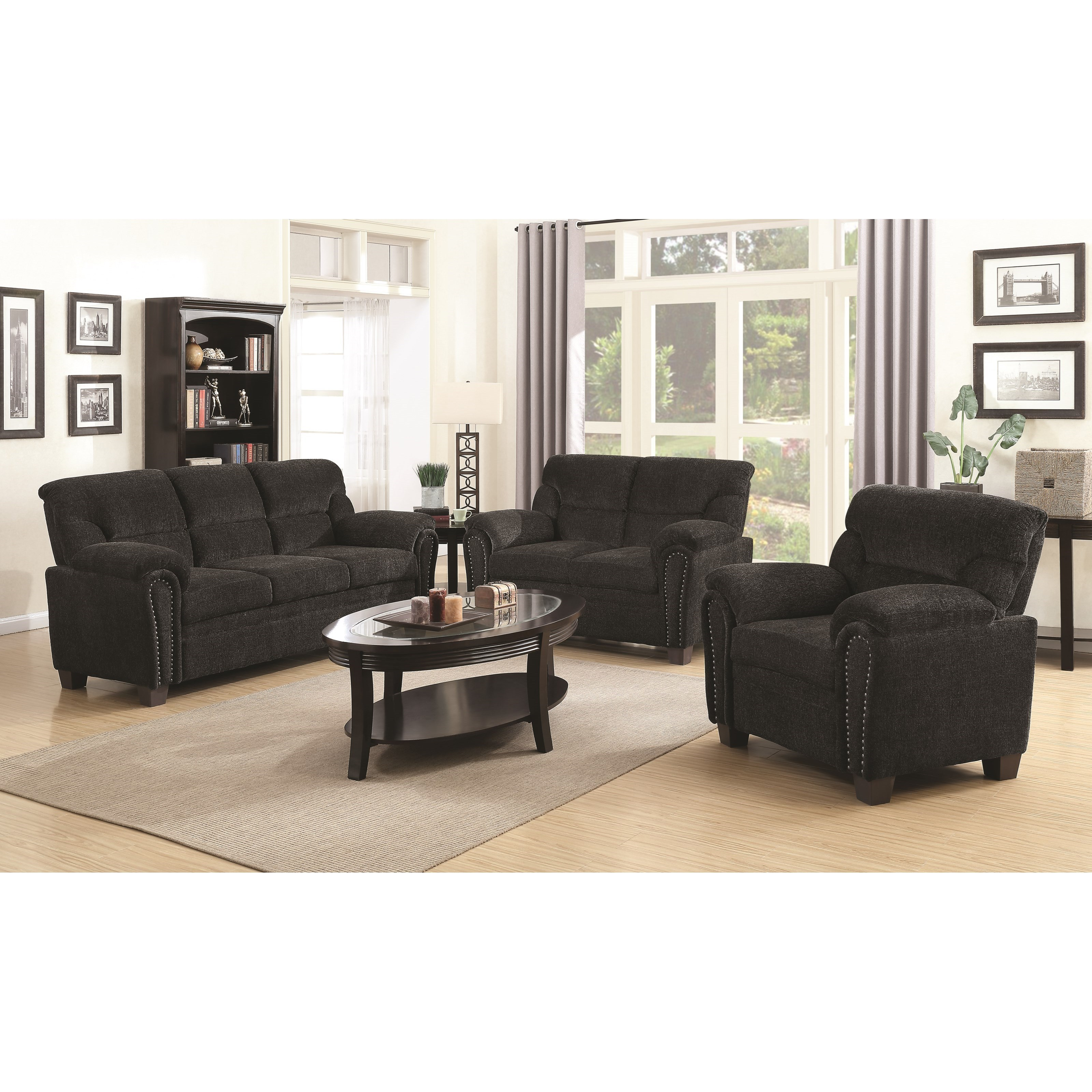 Clemintine by Coaster Stationary Living Room Group by Coaster at Standard Furniture